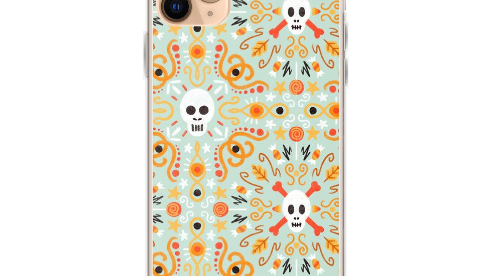 """Skull Mandala Blue"" - iPhone Case"