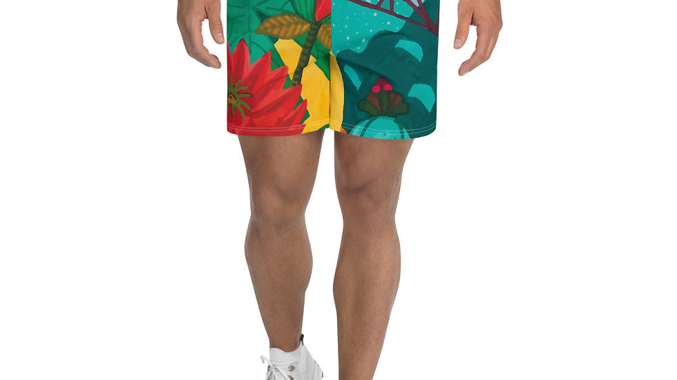 """Japanese garden"" - Men's Athletic Long Shorts"