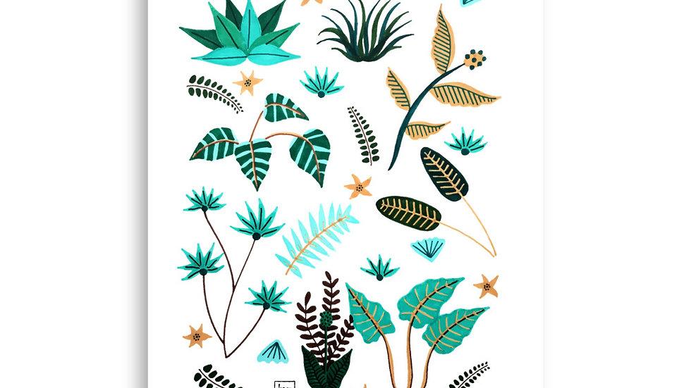 """""""Leaf arrangement"""" - Poster"""