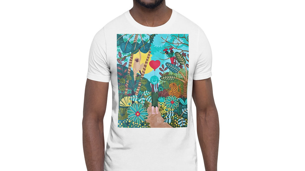 """She heart jungle"" - Men Photo T-Shirt"