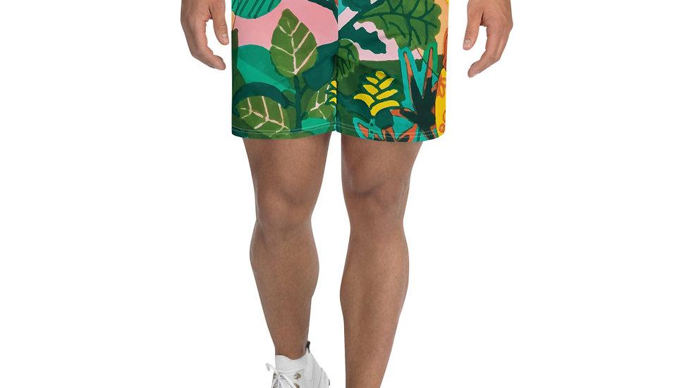 """Jungle meditation"" - Men's Athletic Long Shorts"