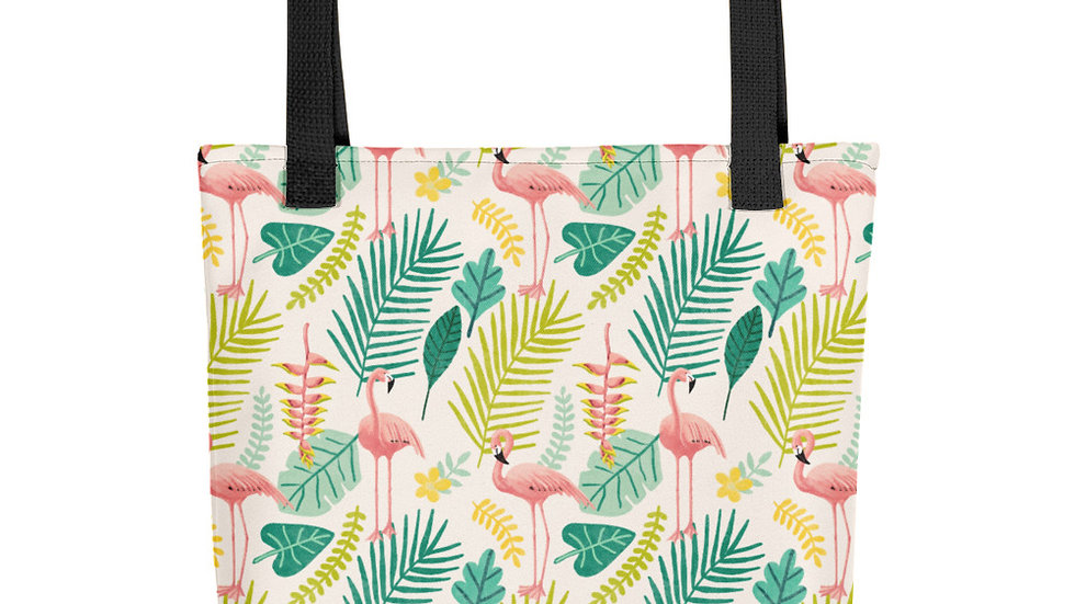 """Flamingo Cream"" - Tote bag"