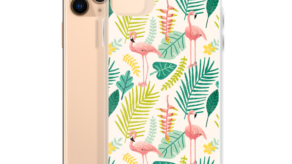 """Flamingo Cream"" - iPhone Case"