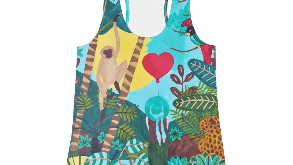 """She heart jungle"" - Women Racerback Tank"