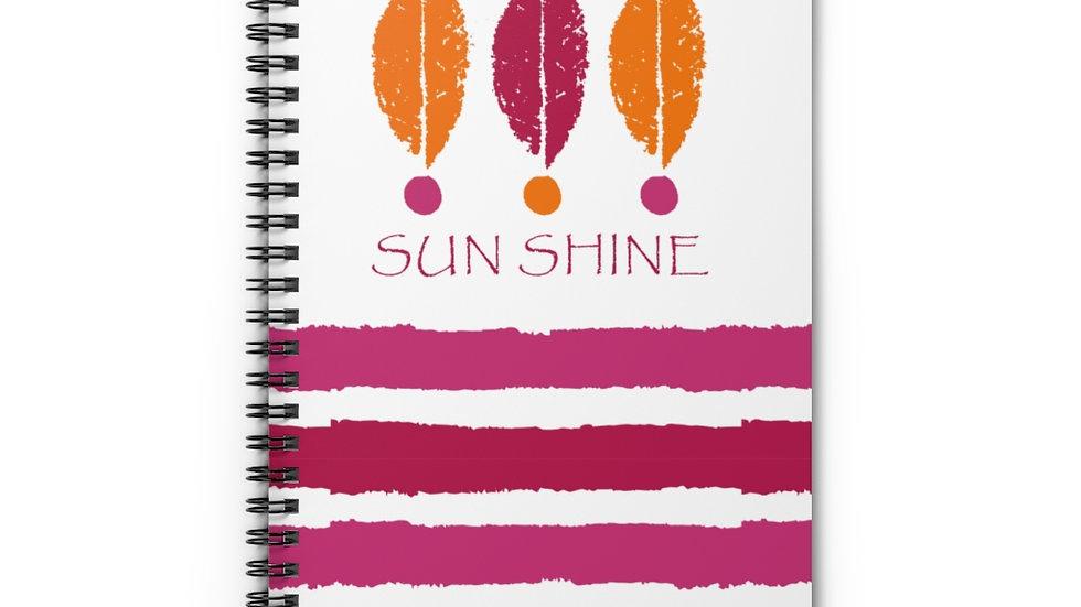 """""""Sun shine"""" Fuchsia & Orange - Spiral Notebook"""