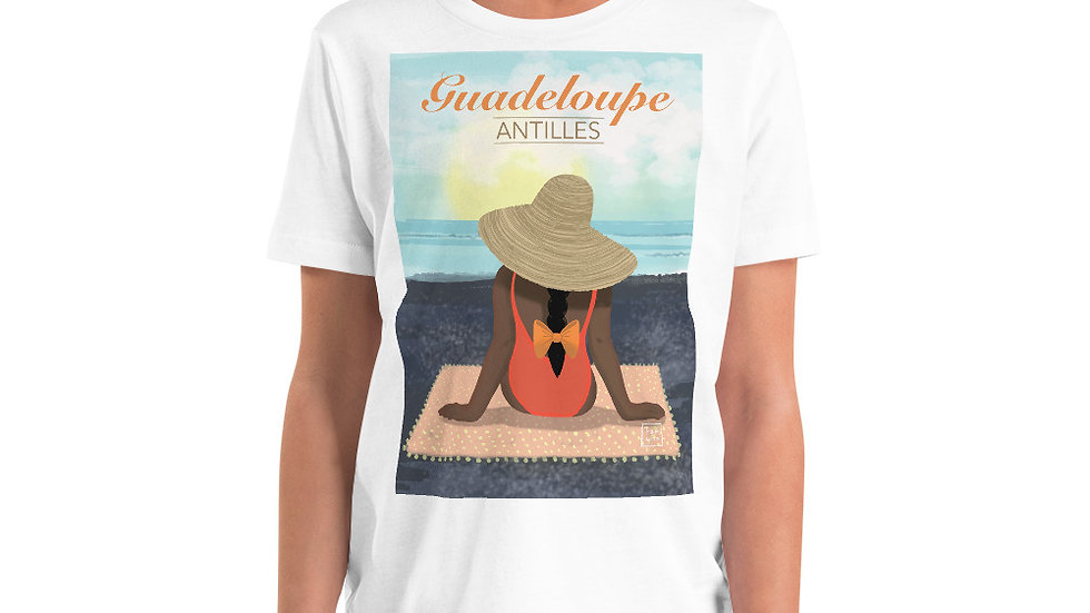 """""""Guadeloupe sunset black"""" - Youth T-Shirt"""
