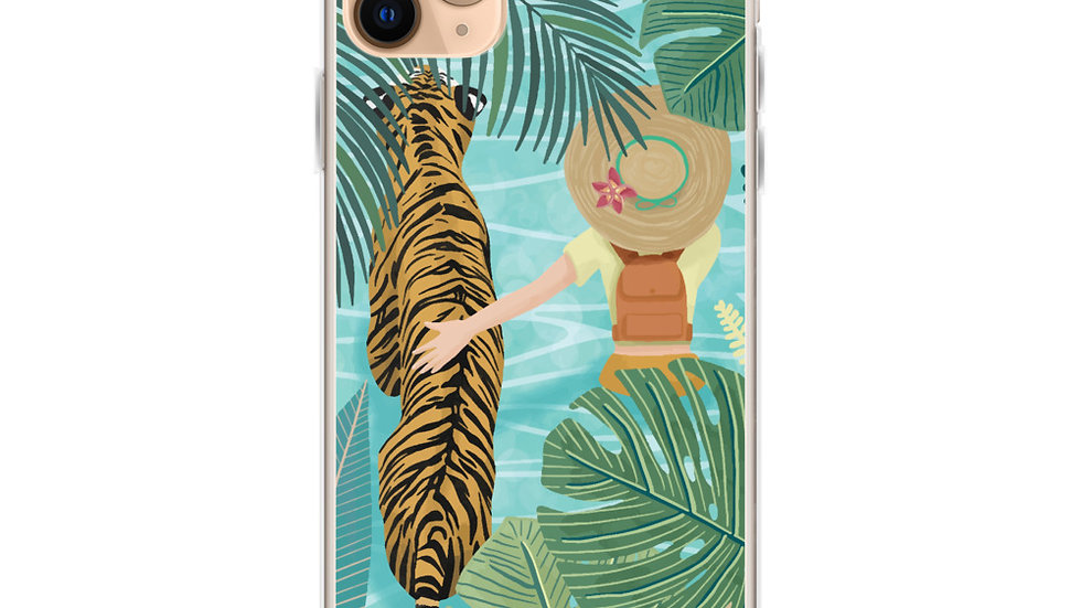 """Tiger travel companion"" - iPhone Case"