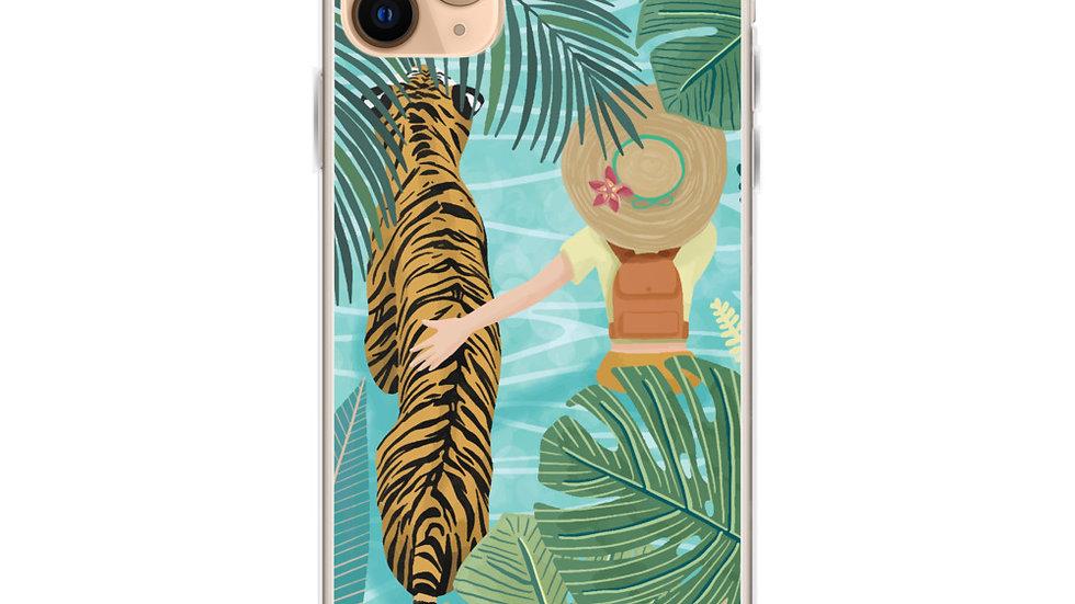 """Tiger travel companion"" - iPhone Case"