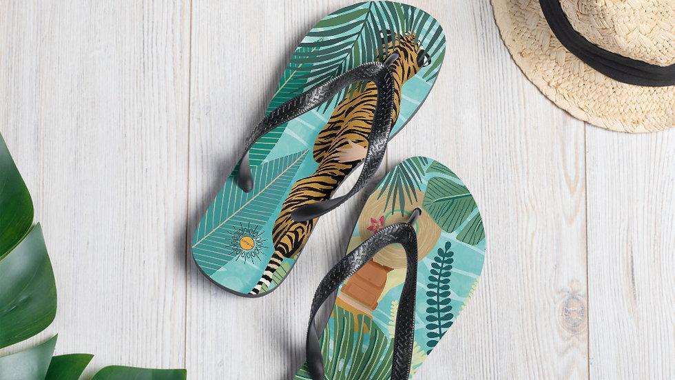 """Tiger travel companion"" - Flip-Flops"