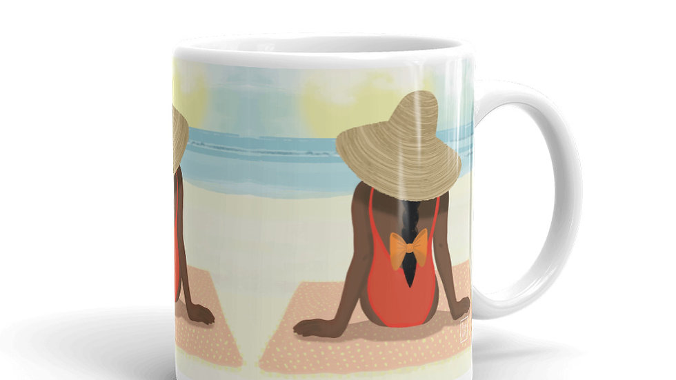 """Guadeloupe sunset white"" - Mug"