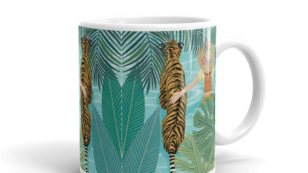 """Tiger travel companion"" - Mug"