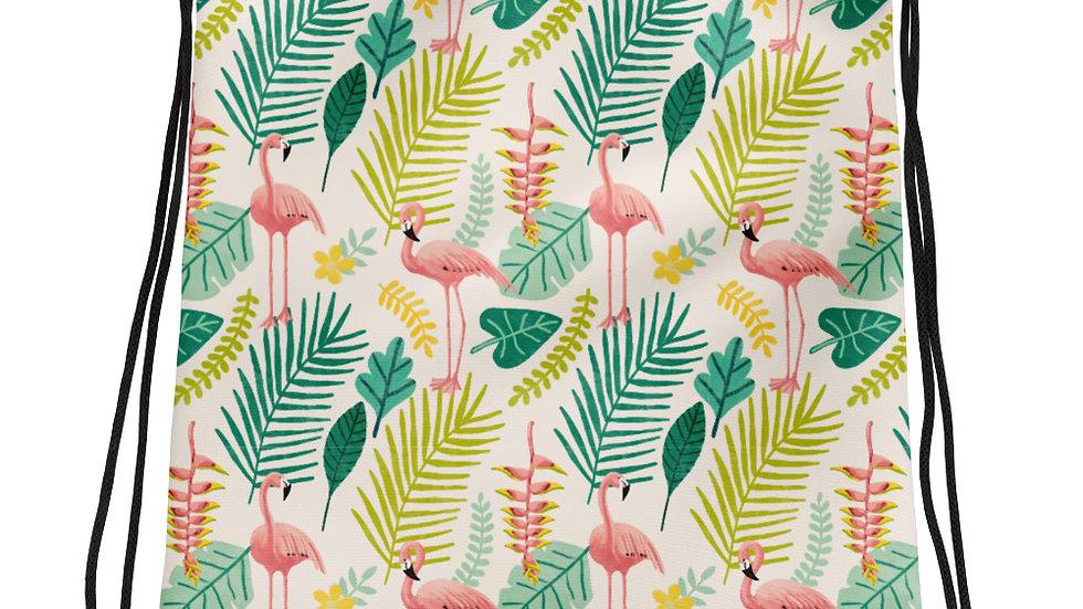 """""""Flamingo Cream"""" - Drawstring bag"""