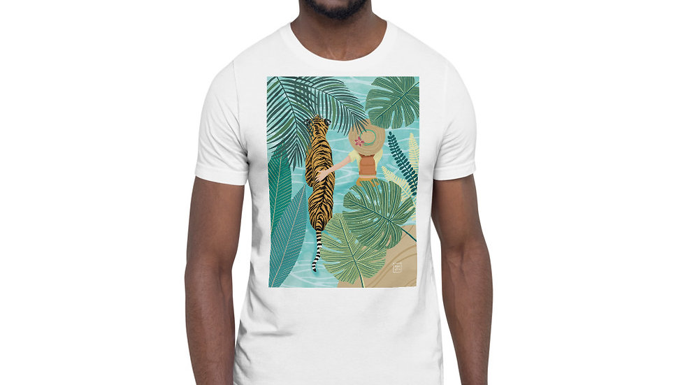 """Tiger travel companion"" - Men Photo T-Shirt"