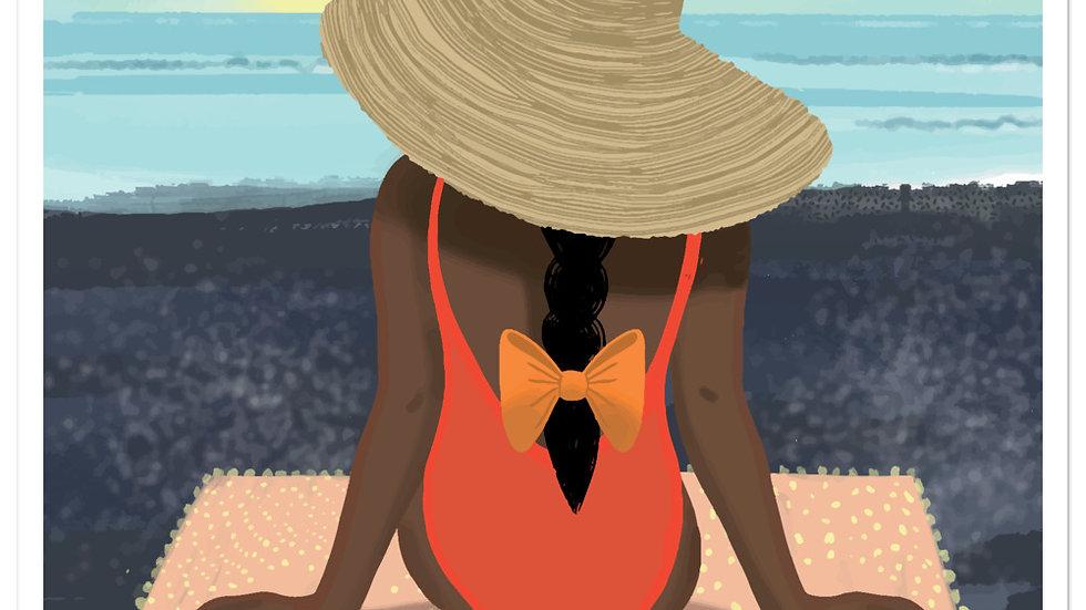 """""""Guadeloupe sunset black"""" - Stickers"""