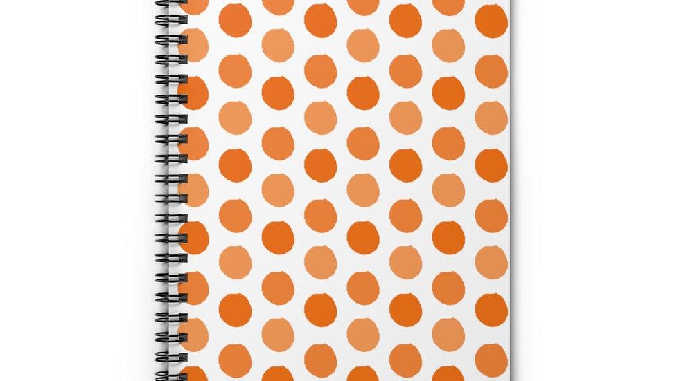 Orange polka dots - Spiral Notebook