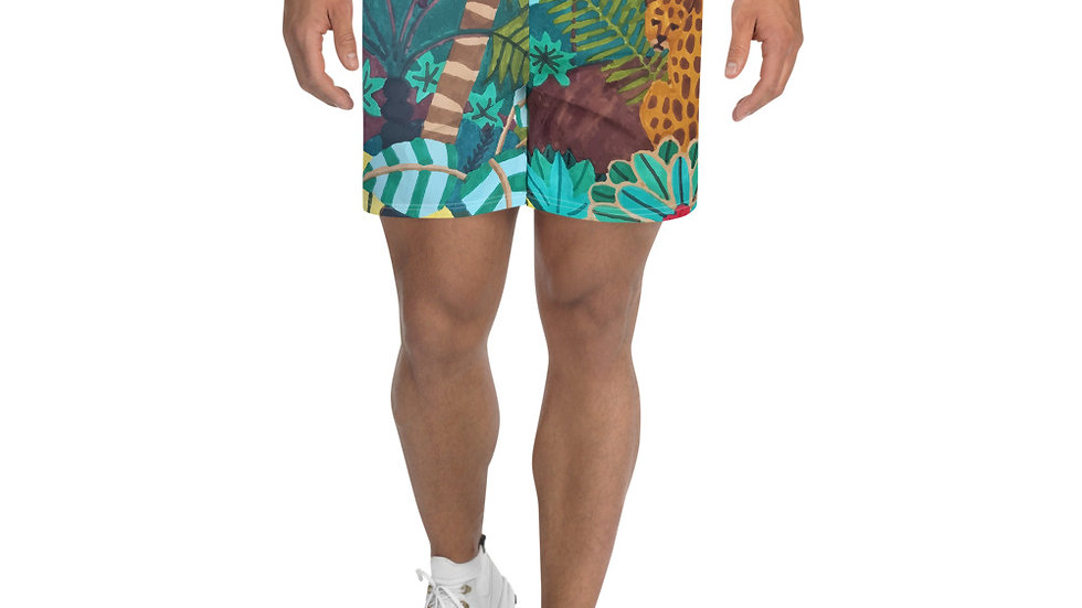 """She heart jungle"" - Men's Athletic Long Shorts"