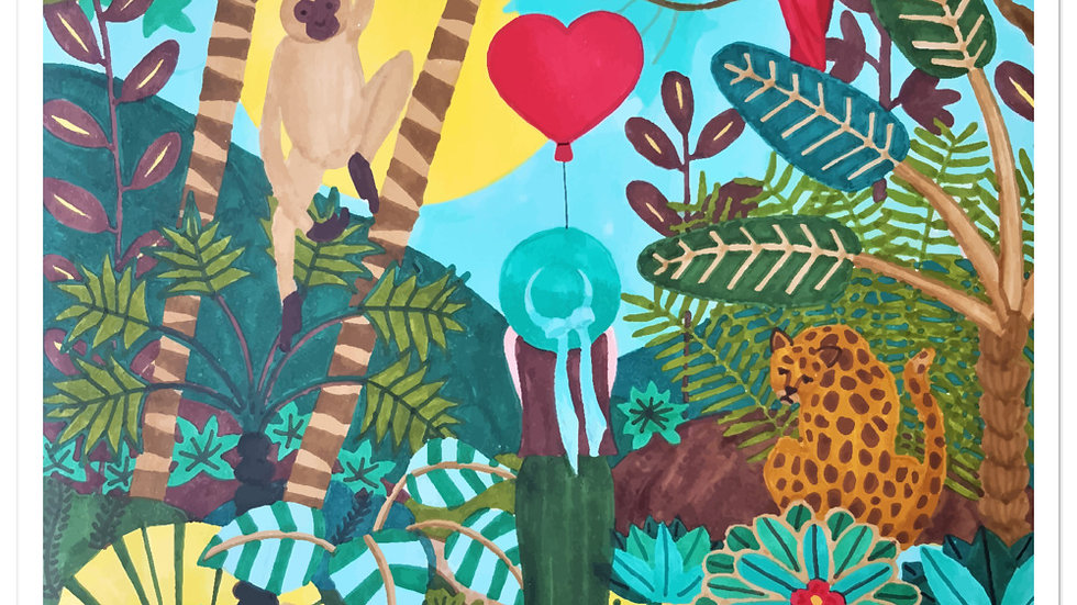 """She heart jungle"" - Stickers"