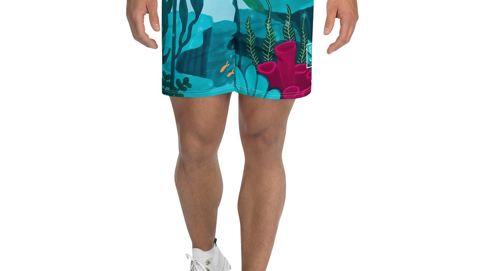 """Dream destination"" - Men's Athletic Long Shorts"