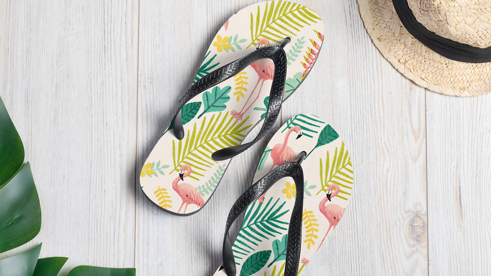 """Flamingo Cream"" - Flip-Flops"