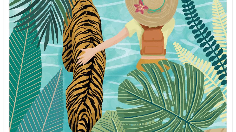 """Tiger travel companion"" - Stickers"