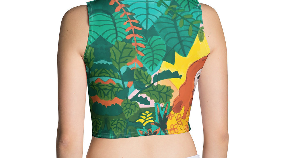 """Jungle meditation"" - Crop Top"