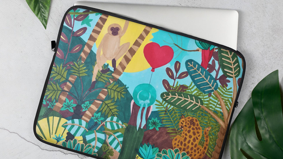 """She heart jungle"" - Laptop Sleeve"