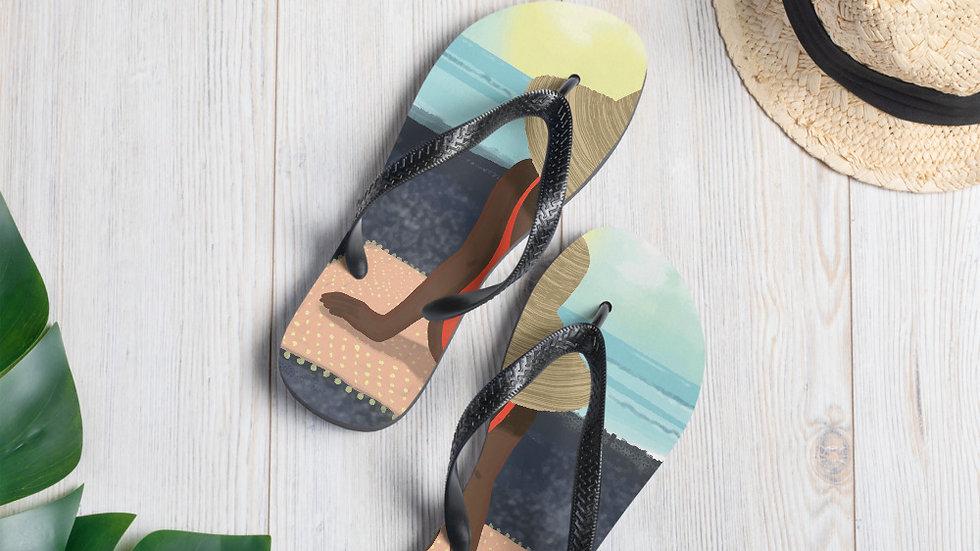 """""""Guadeloupe sunset black"""" - Flip-Flops"""