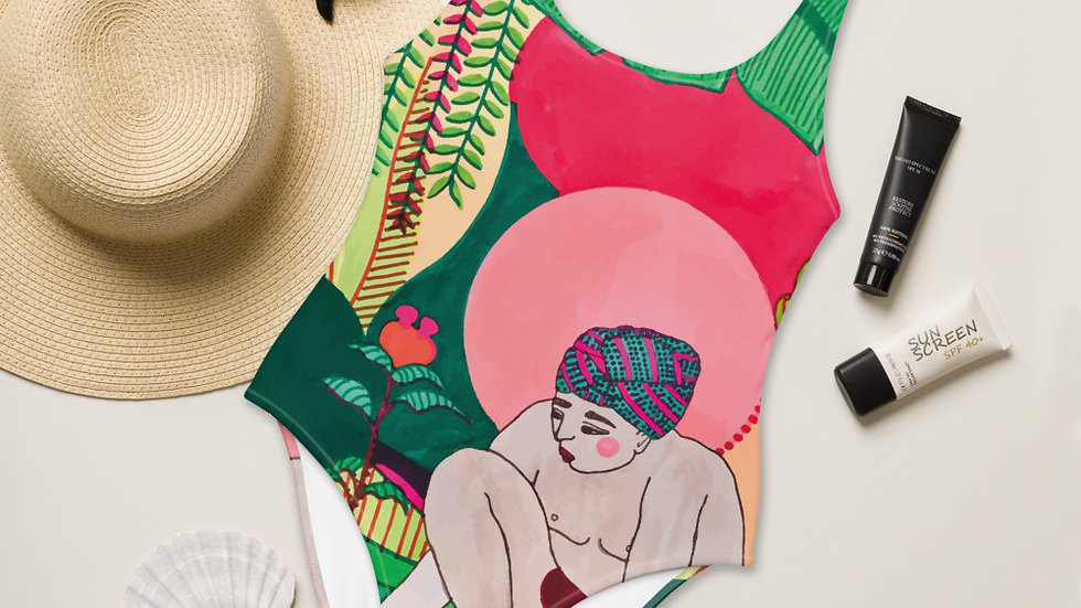 """""""Seed growth"""" - One-Piece Swimsuit"""