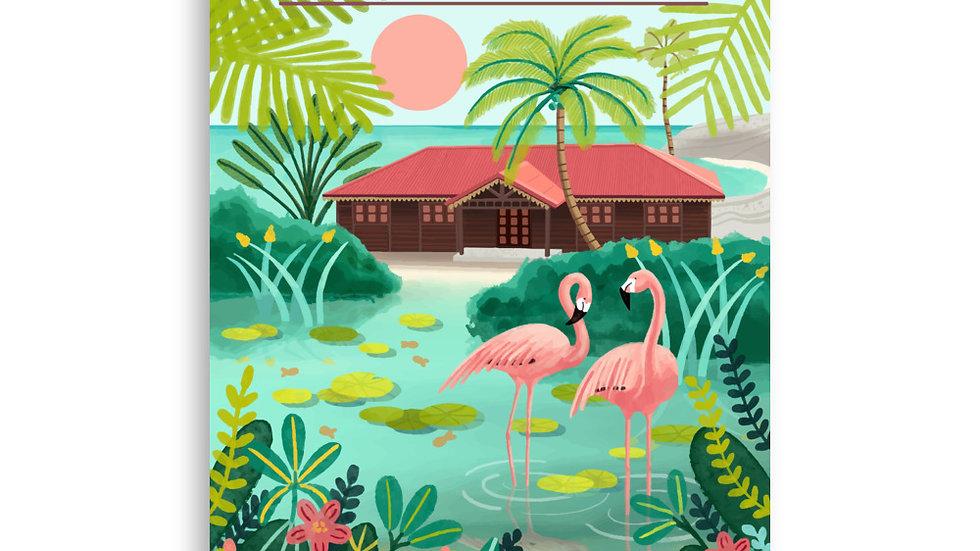 """Deshaies Tropical Garden"" - Poster"