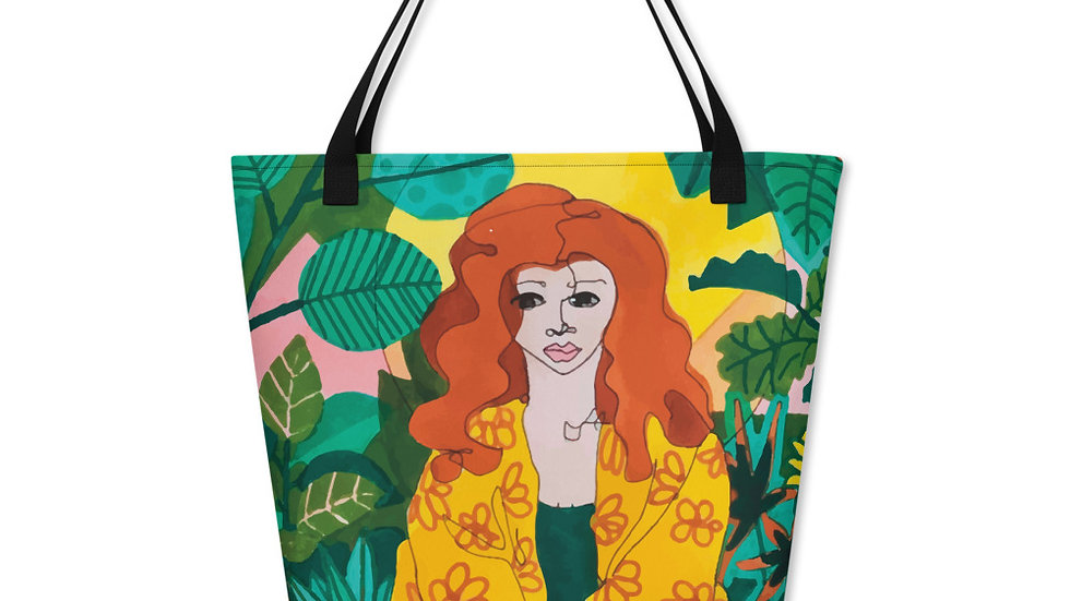 """Jungle meditation"" - Beach Bag"