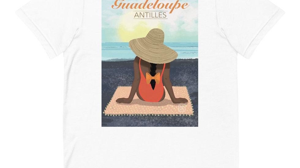 """""""Guadeloupe sunset black"""" - Women T-Shirt"""