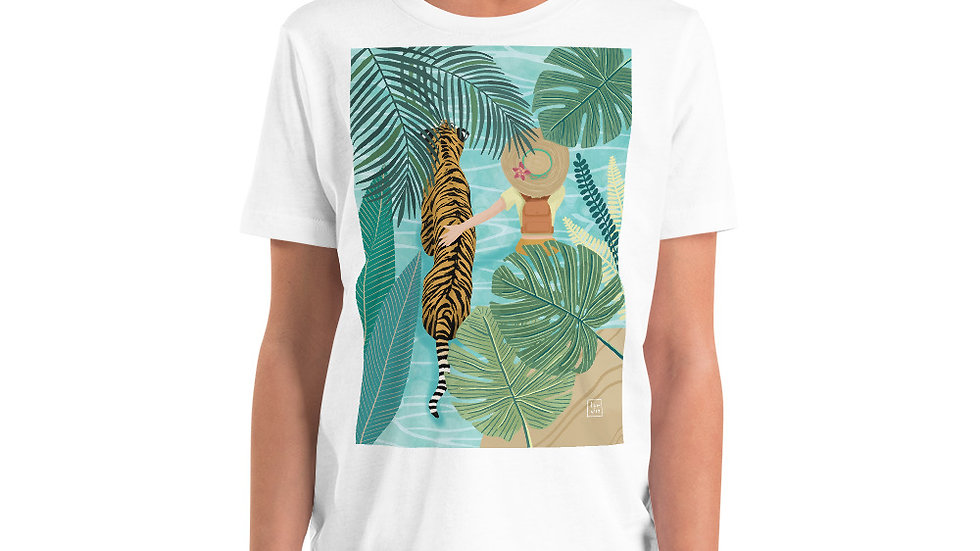 """Tiger travel companion"" - Youth T-Shirt"