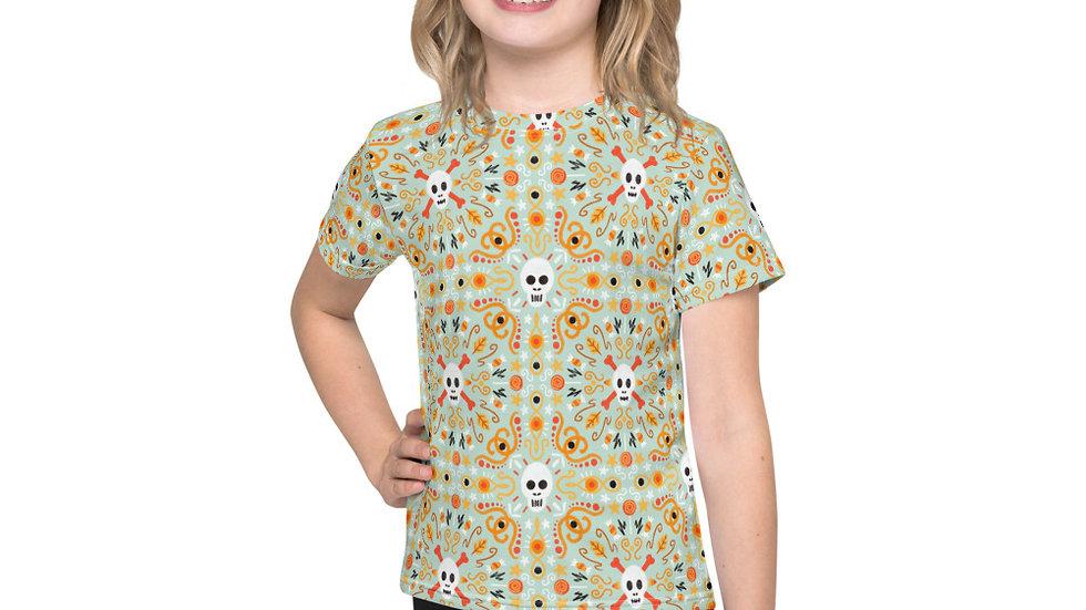 """Skull Mandala Blue"" - Kids T-Shirt"