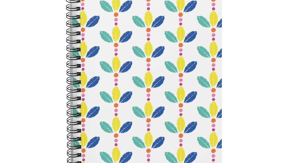 Multicolor leaf crown - Spiral Notebook