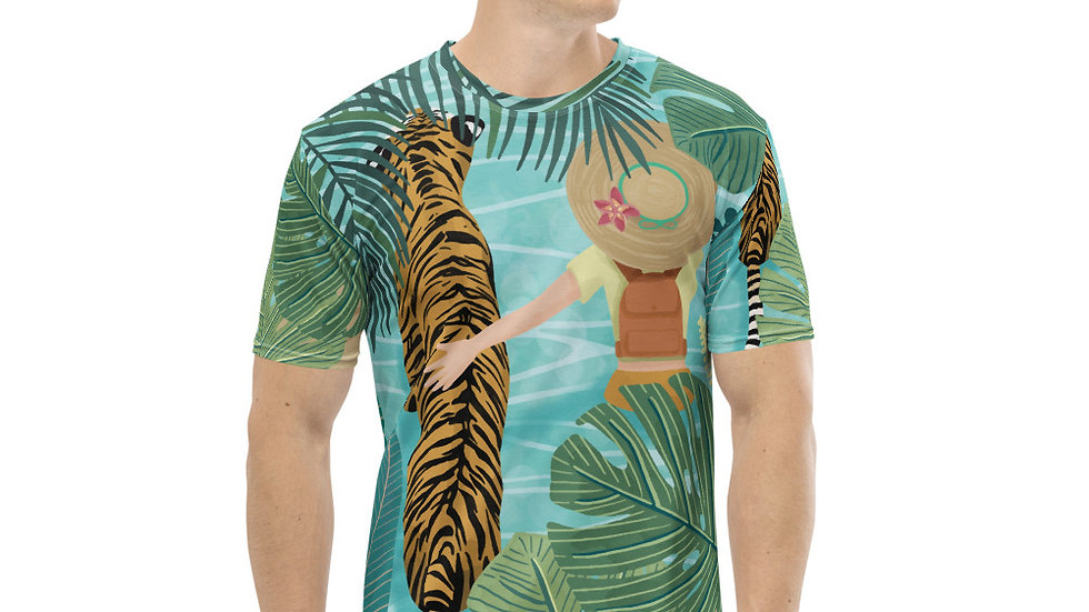 """Tiger travel companion"" - Men T-shirt"