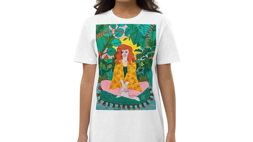 """Jungle meditation"" - Organic cotton t-shirt dress"