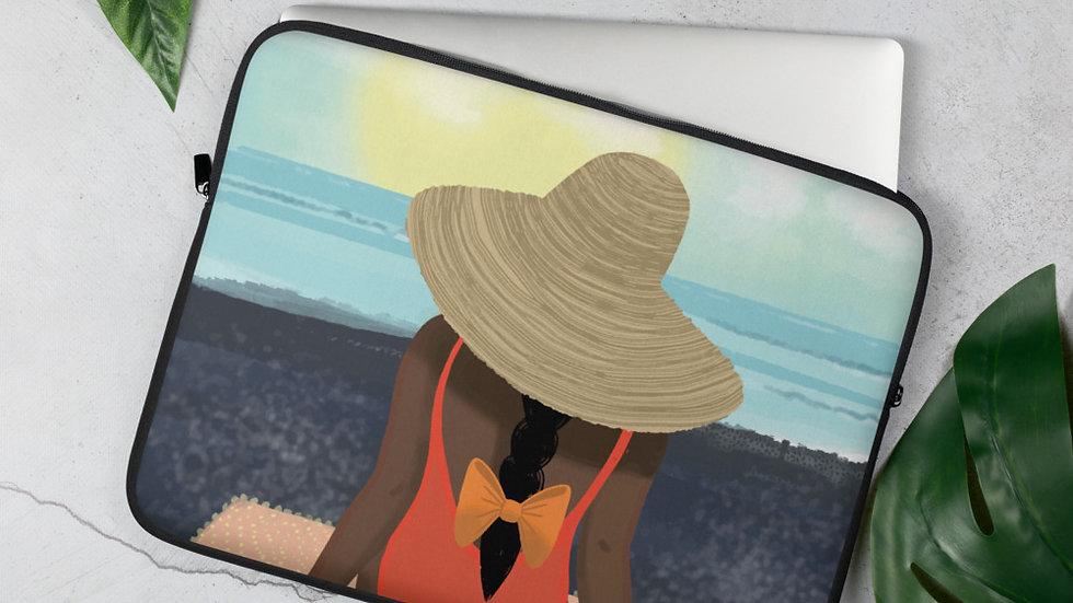 """""""Guadeloupe sunset black"""" - Laptop Sleeve"""