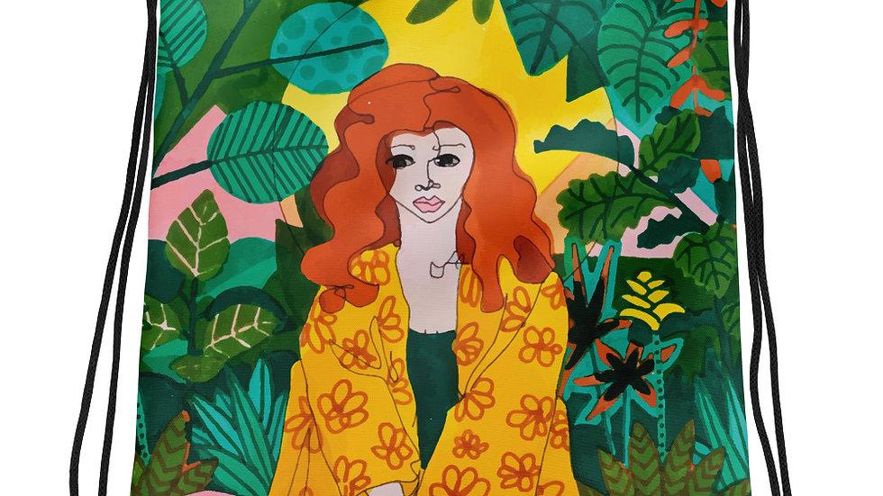 """Jungle meditation"" - Drawstring bag"