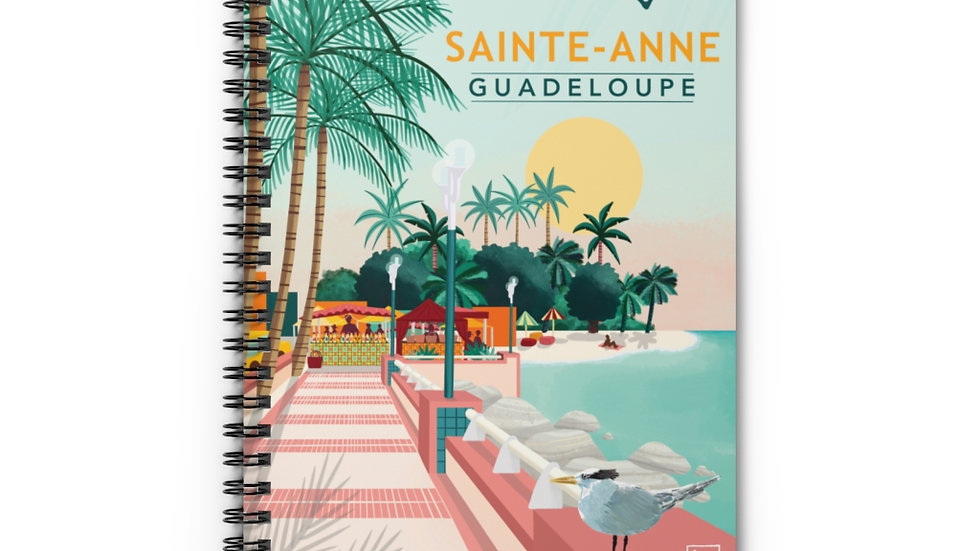 """Sainte-Anne Guadeloupe"" - Spiral Notebook"