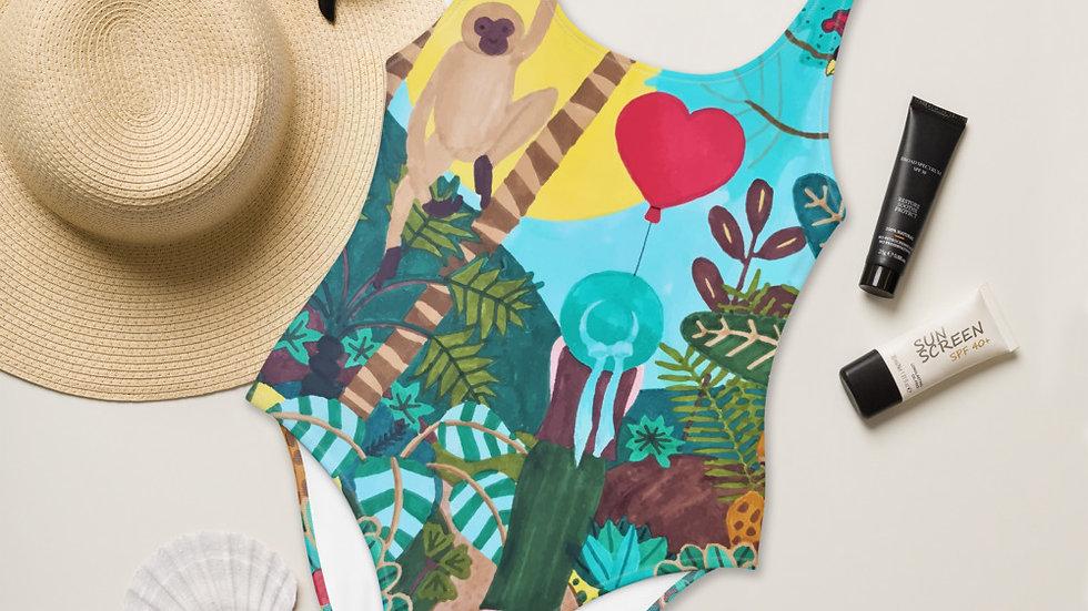 """She heart jungle"" - One-Piece Swimsuit"