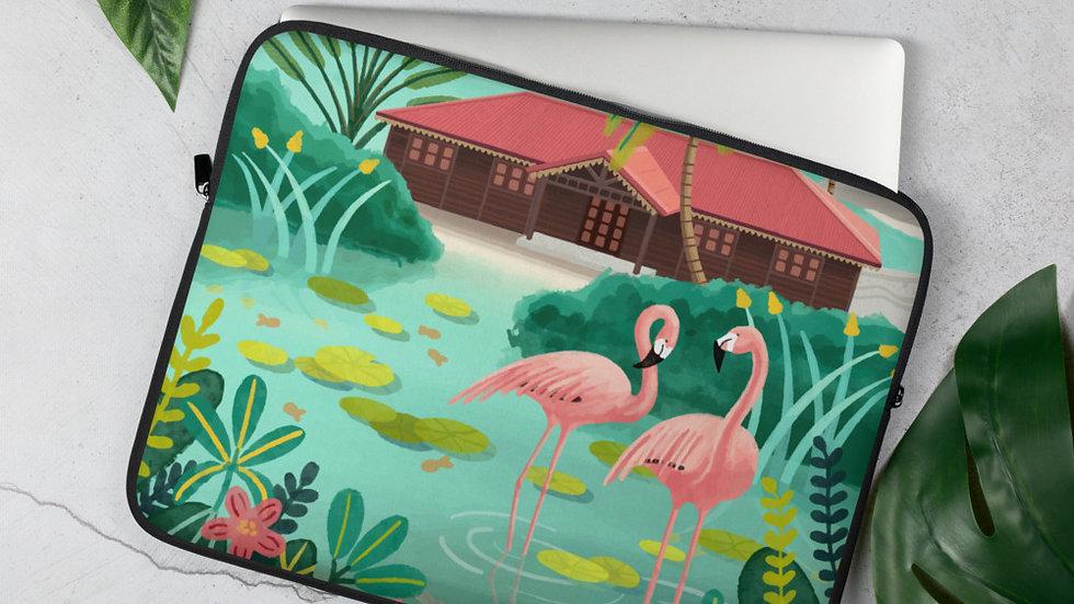 """Deshaies Tropical Garden"" - Laptop Sleeve"