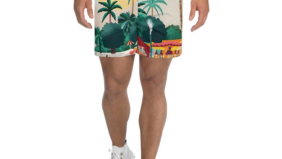 """""""Sainte-Anne Guadeloupe"""" - Men's Athletic Long Shorts"""