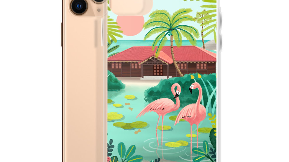 """Deshaies Tropical Garden"" - iPhone Case"