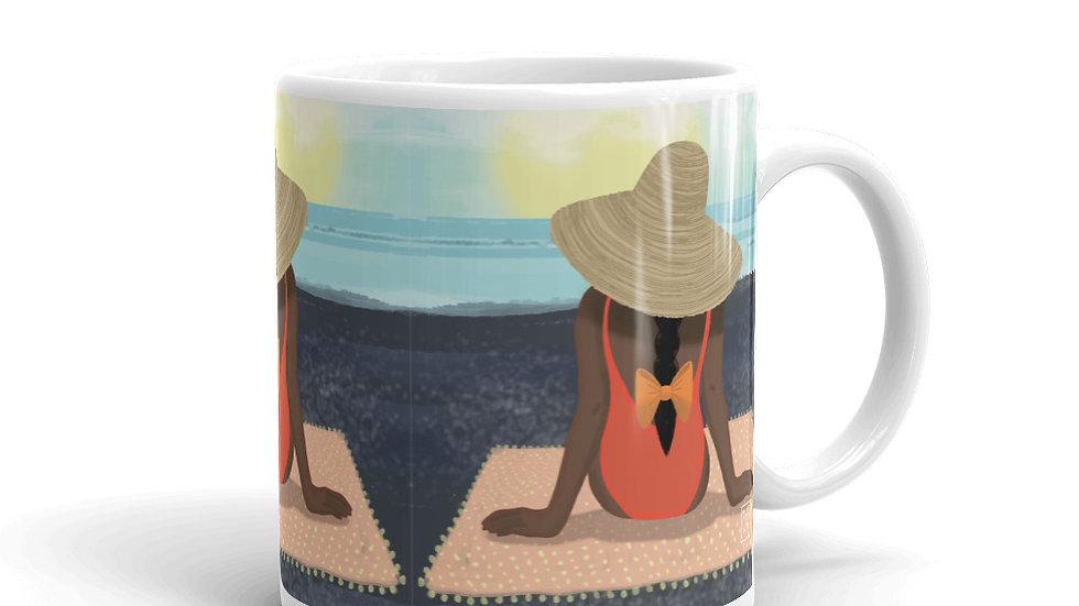 """Guadeloupe sunset black"" - Mug"