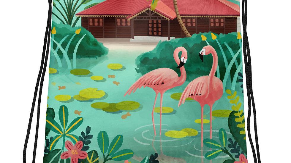 """Deshaies Tropical Garden"" - Drawstring bag"