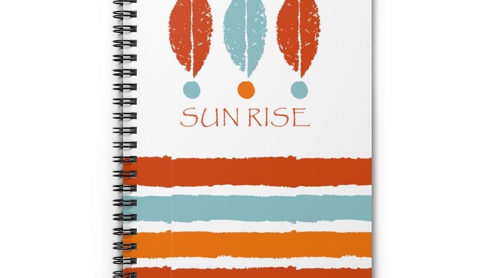 """Sun rise"" Blue & Orange - Spiral Notebook"