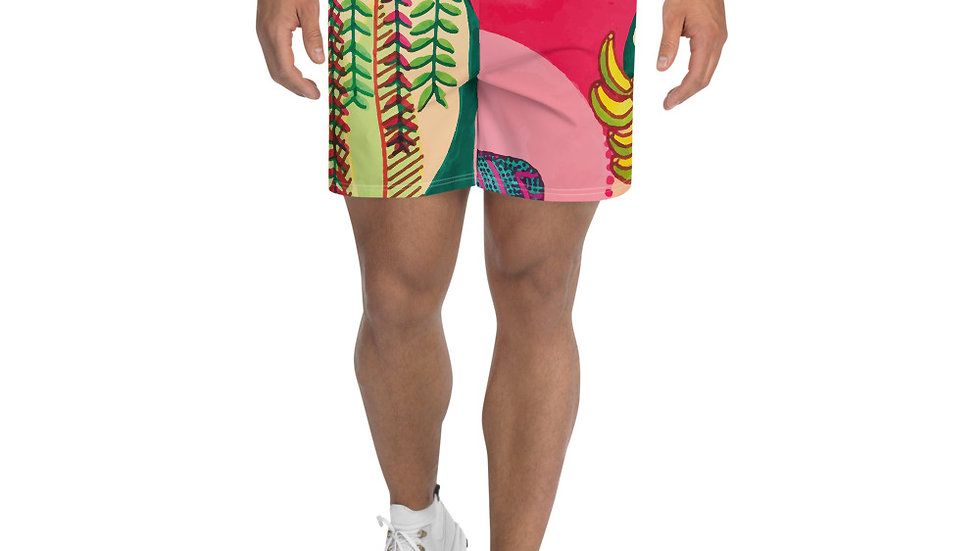 """Seed growth"" - Men's Athletic Long Shorts"