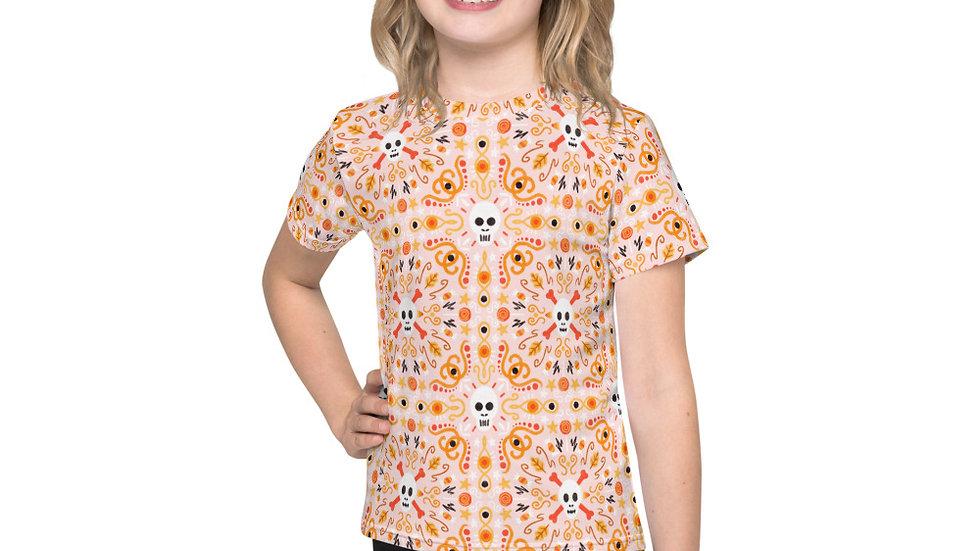 """Skull Mandala Pink"" - Kids T-Shirt"