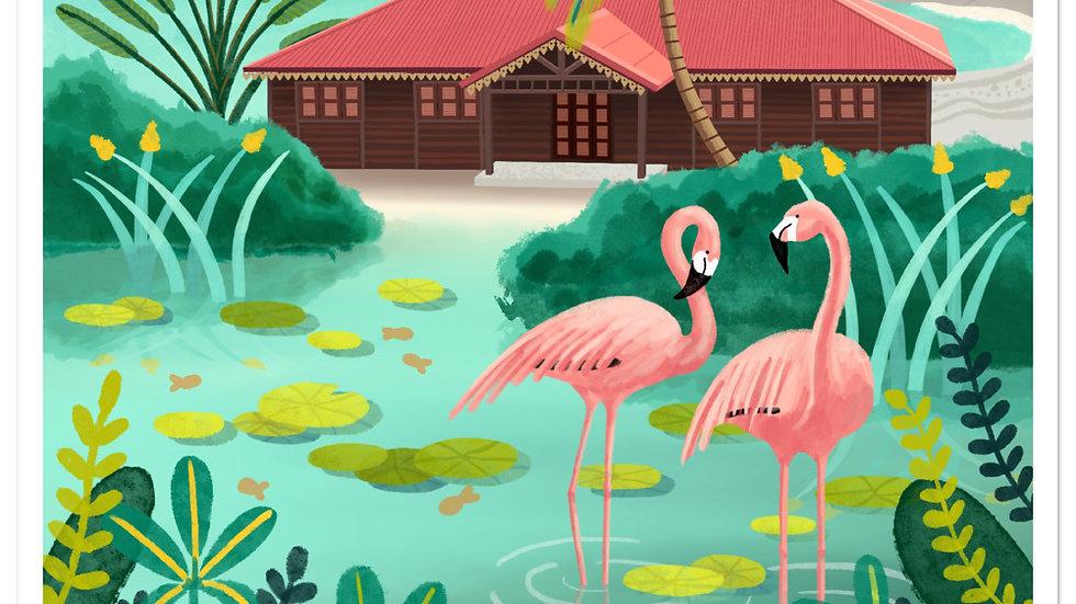 """Deshaies Tropical Garden"" - Stickers"