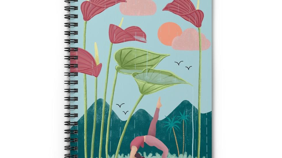"""Nature yoga"" - Spiral Notebook"